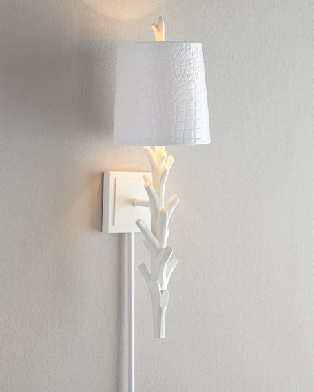 "White ""Coral"" Sconce"