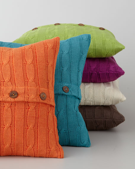 Cable-Knit Pillow