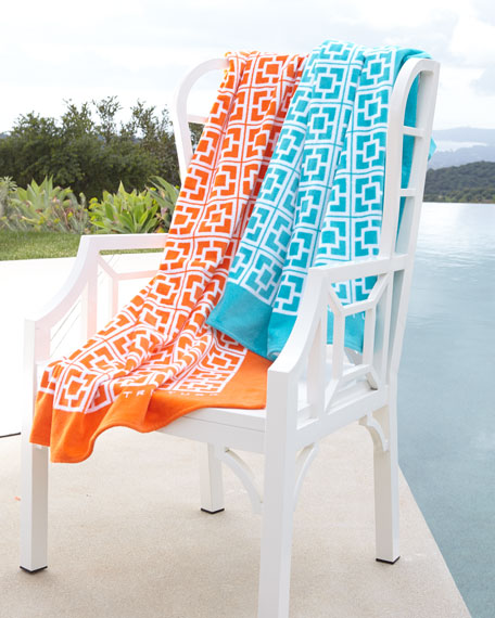 Palm Springs Block Beach Towel
