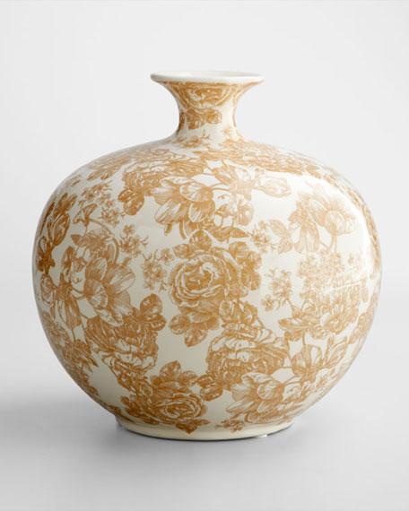 Large Painted Floral Vase