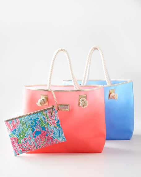 """Shoreline"" Tote with Wristlet"