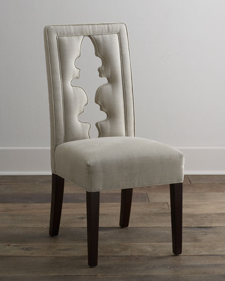 """Bailey"" Carved-Back Chair"