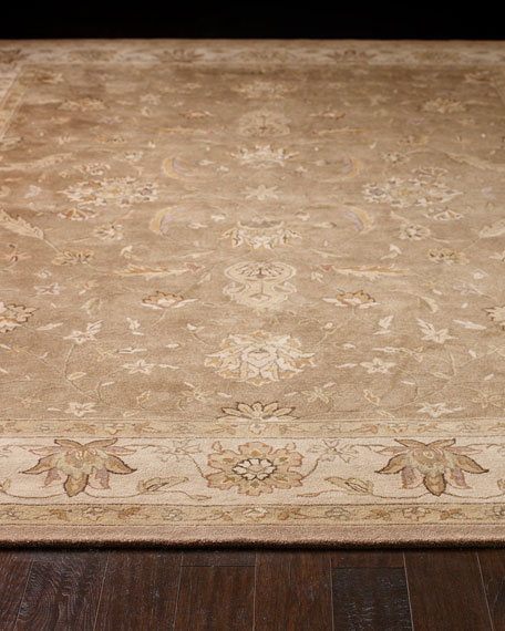 Neutral Bordered Rug, 5' x 8'