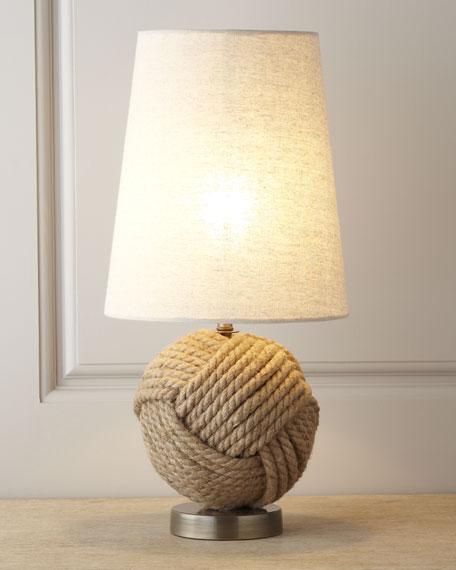 """Avalon"" Rope Ball Mini Lamp"