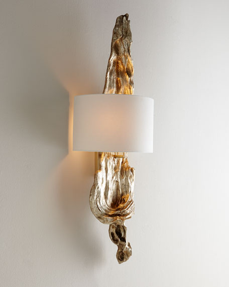 Silvery Driftwood Sconce