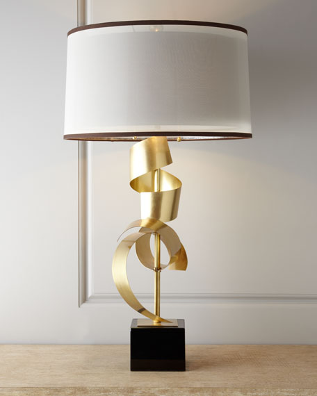 """Brass Curls"" Table Lamp"
