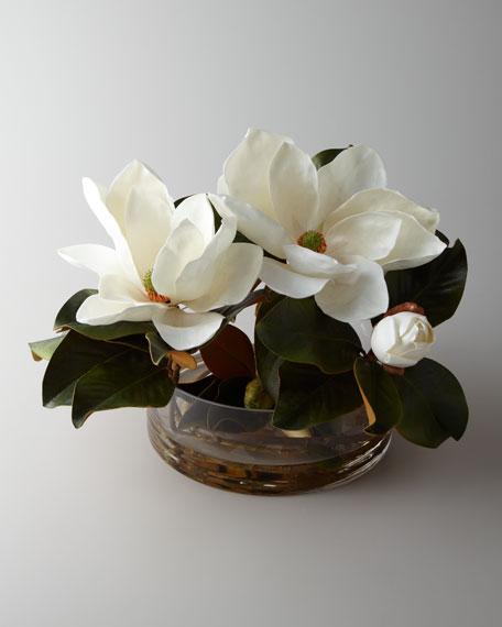 """""""Magnolia Grandflora"""" Faux Arrangement"""