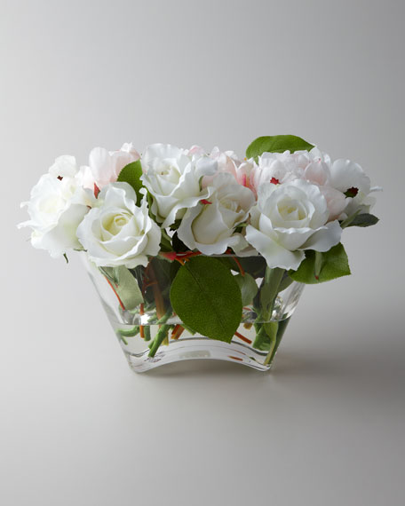 """Pivoines and Roses"" Faux Floral Arrangement"