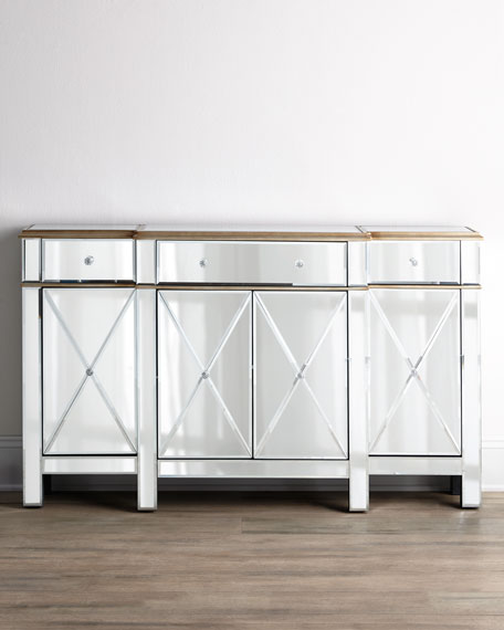 """Jerilynn"" Mirrored Console"