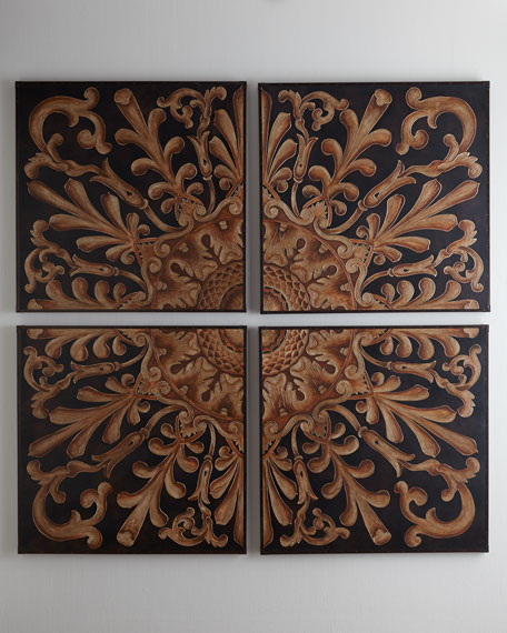 Four Medallion Panels