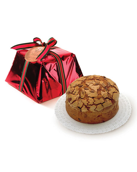 Red-Wrapped Panettone Cake