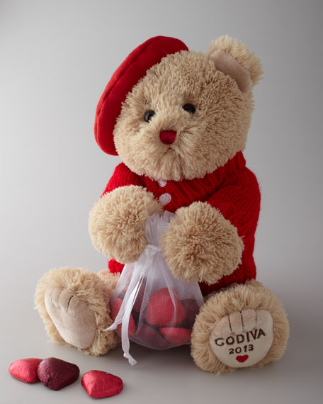 """Valentino"" the Bear & Chocolates"