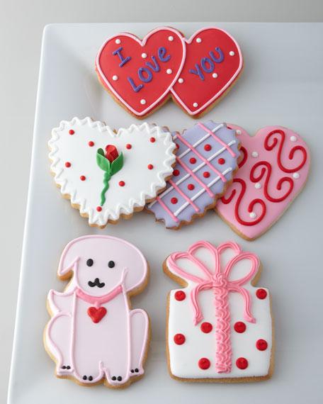 Six Valentine's Cookies