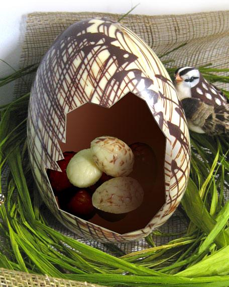 Large Chocolate Egg with Mini Eggs