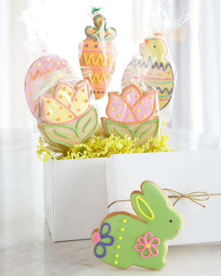 Six Hand-Decorated Easter Cookies