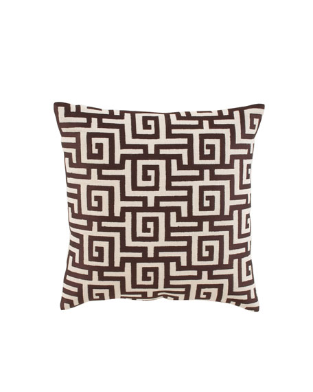 """Greek Key"" Accent Pillow"