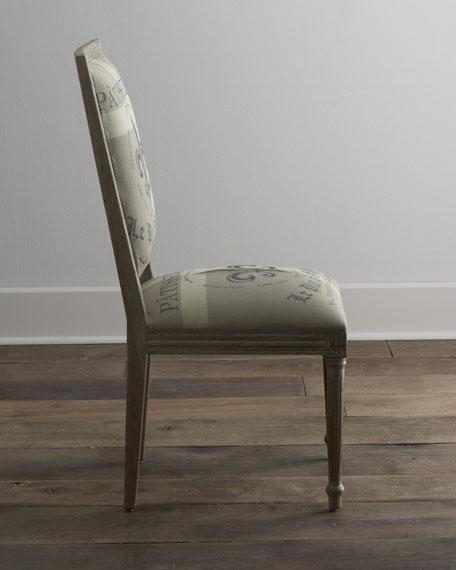 """""""Fleur-De-Lis"""" Side Chair"""