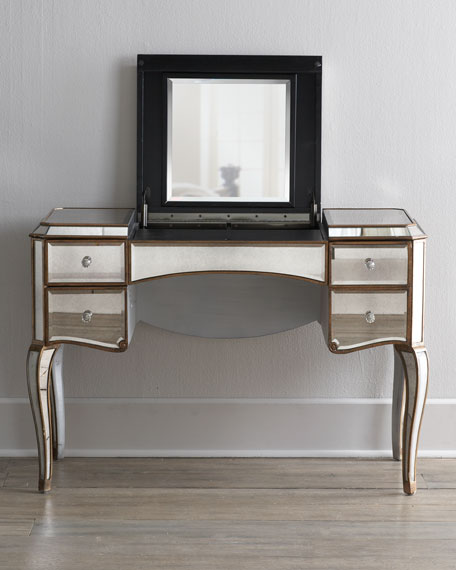 Claudia Mirrored Vanity Desk