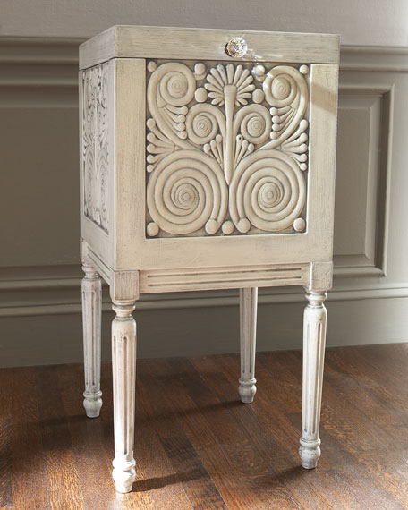 white carved file box - Decorative File Boxes