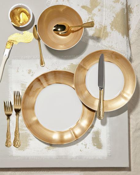 Neiman Marcus 12-Piece Gold Brushstroke Dinnerware Service