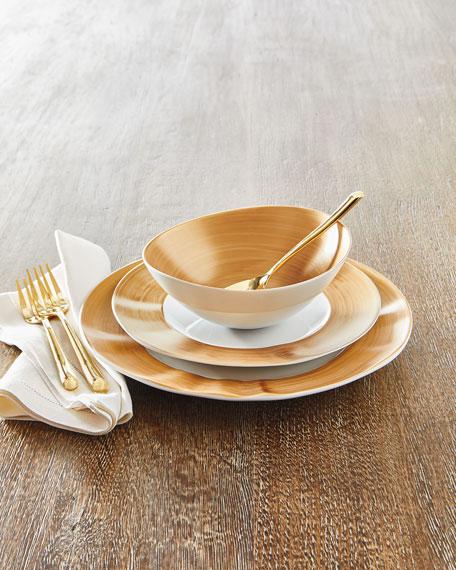 12-Piece Gold Brushstroke Dinnerware Service