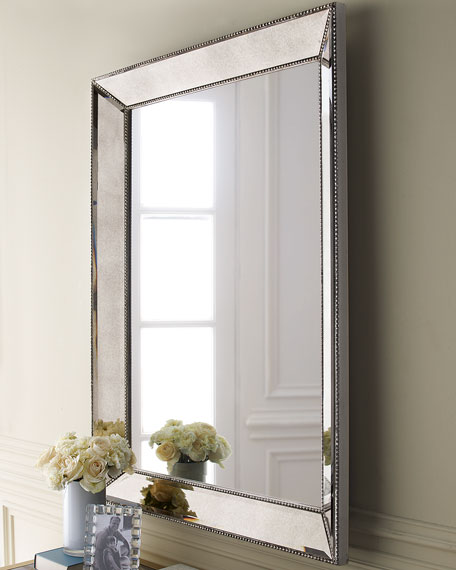Beveled Wall Mirror beaded wall mirror