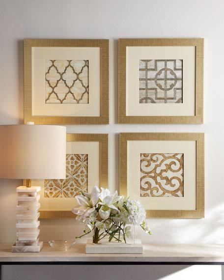 Four Geometric Prints
