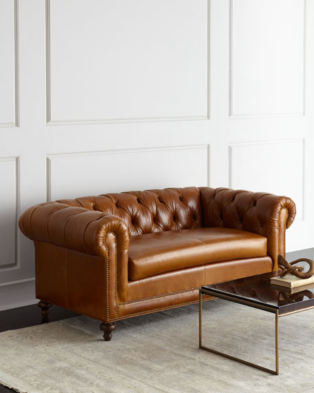 "Davidson 69"" Slab Seat Chesterfield Sofa"