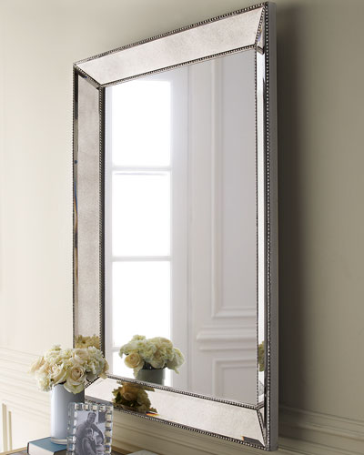 Beaded Wall Mirror  36.5W