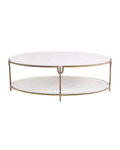 Global views olivia marble top coffee table for Stone topped coffee tables