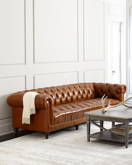 Tufted Seat Chesterfield Sofa