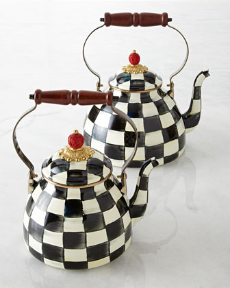Courtly Check Tea Kettles