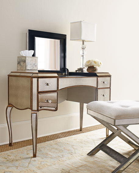 Claudia Mirrored Vanity/Desk