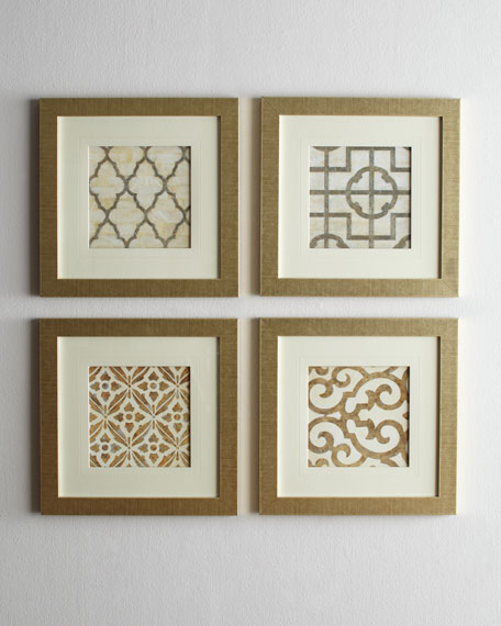 Four Geometric Prints