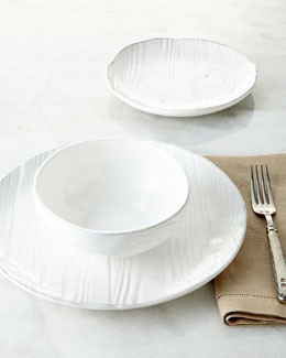 12-Piece Wood-Grain Design Dinnerware Service