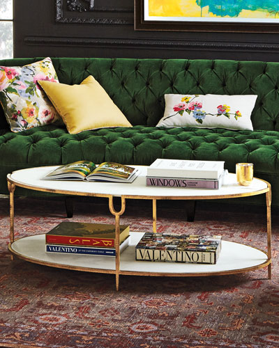 marble mirrored coffee tables at neiman marcus horchow