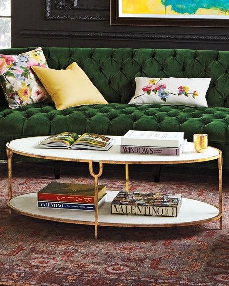 Olivia Marble-Top Coffee Table