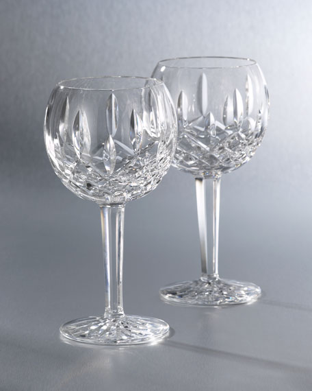 """Lismore"" Crystal Wine Glass"
