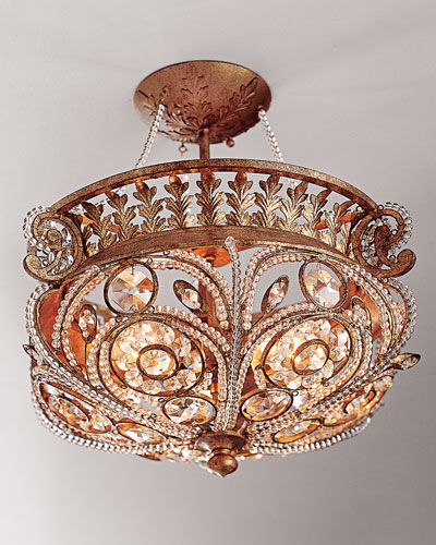 La Crystal Semi-Flush Light Fixture