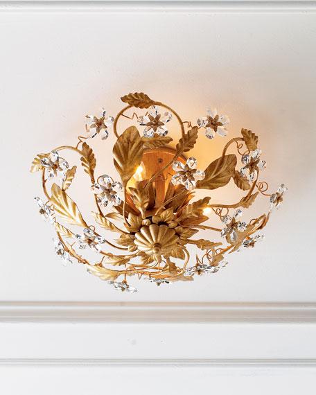 Crystorama Crystal Flower Flush Mount Light Fixture