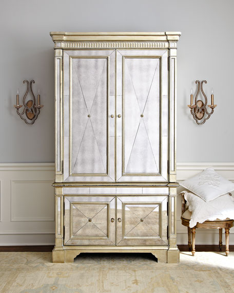 Delicieux Amelie Mirrored Cabinet