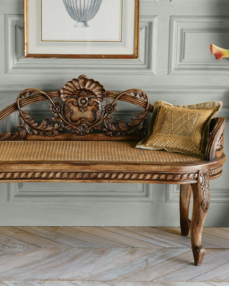 """""""Shell"""" Cane Bench"""