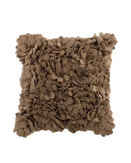 "Delancey Felt Petal Pillow, 16""Sq."