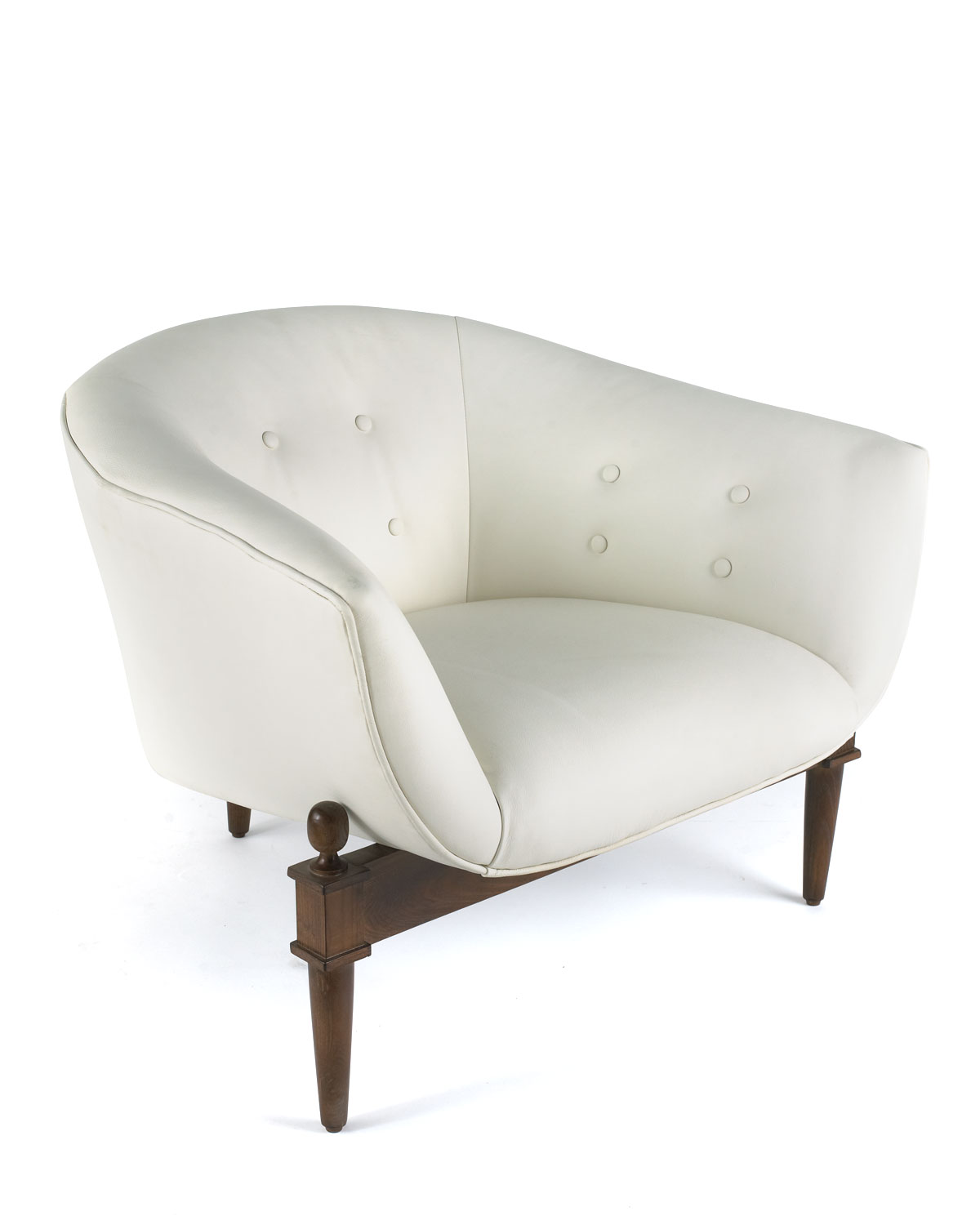 Global Viewswhite Scoop Chair