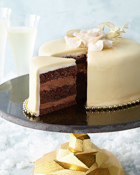 Ivory & Gold Gateau, For 10 People