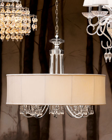 Silver-Plated 8-Arm Chandelier