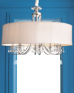 Silver-Plated Eight-Arm Chandelier