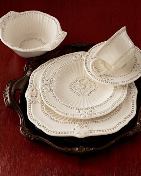 20 Piece Ivory Baroque Dinnerware Service