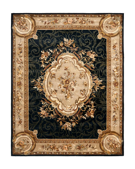 Aubusson Night Rug, 9' x 12'