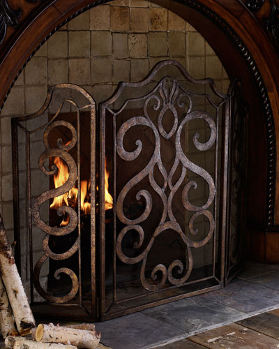 Scroll Fireplace Screen